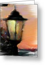 Spiritual Lamp Greeting Card