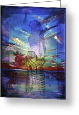 Spiritual Rising At Sunset Greeting Card