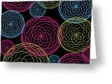 Spiro Blooms In Noir Greeting Card