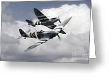 Spitfire Flying Legends Greeting Card