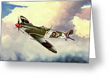 Spitfire Greeting Card by Marc Stewart