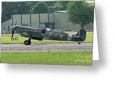 Spitfire On The Ground Greeting Card