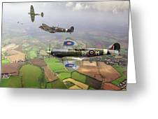 Spitfire Sweep Colour Version Greeting Card