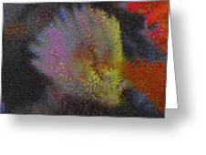Splash - Abstract Digital Painting Greeting Card by Merton Allen