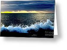 Splash At Sunset Greeting Card