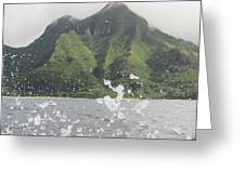 Splash North Shore Kauai Greeting Card