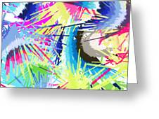 Splash Of Color Abstract Greeting Card
