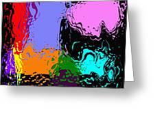Splash Of Colors Greeting Card