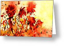 Splash Of Red Greeting Card