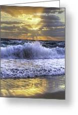 Splash Sunrise IIi Greeting Card