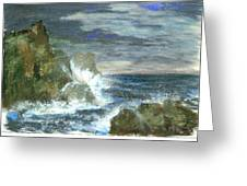 Splashes Of Ocean Waves Greeting Card