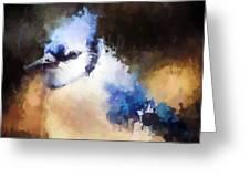 Splatter Art - Blue Jay Greeting Card