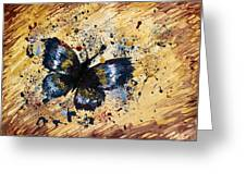Splatter Butterfly Greeting Card