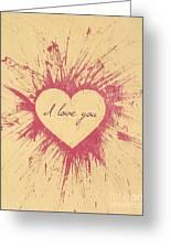 Splattered Love Greeting Card