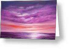Splendid Purple Greeting Card