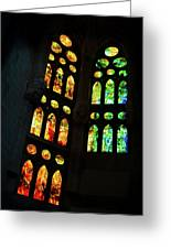 Splendid Stained Glass Windows Greeting Card