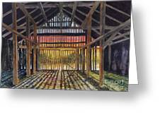 Splendor In The Barn Greeting Card