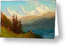 Splendor Of The Grand Tetons - Wyoming Territory Greeting Card