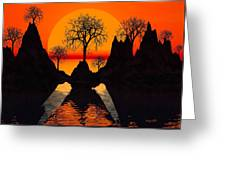 Splintered  Sunlight Greeting Card