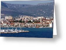 Split Croatia's Waterfront Greeting Card