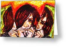 Split Personality Greeting Card