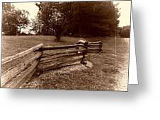 Split Rail Fence Greeting Card