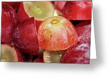 Split Red Grapes Greeting Card