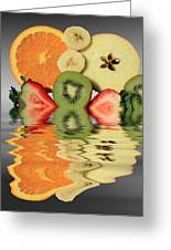 Split Reflections Greeting Card