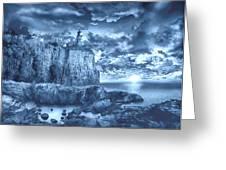 Split Rock Lighthouse Blue Greeting Card