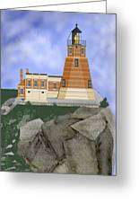 Split Rock Lighthouse On The Great Lakes Greeting Card