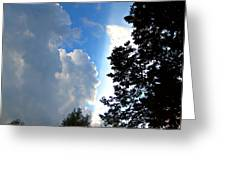Split Sky Greeting Card