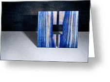 Split Square Blue Greeting Card