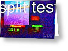 Split Test Greeting Card