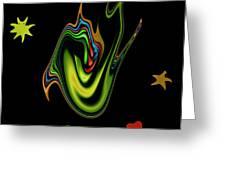 Split Tongue 2 Greeting Card