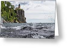 Splitrock Lighthouse 8-4-17 Greeting Card