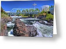 Spokane Falls 2 Greeting Card