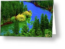 Spokane River Blues Greeting Card