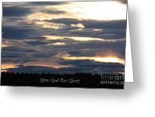 Spokane Sunset - Give God The Glory Greeting Card