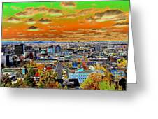 Spokane Washington Earth Greeting Card