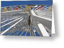 Spokes Of A Ferris Wheel Greeting Card