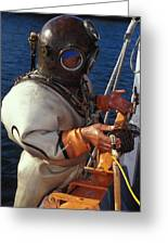 Sponge Diver Greeting Card