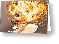 Spontaneous Combustion Greeting Card