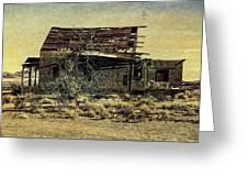 Spooky Broken House Greeting Card