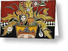 Spooky Halloween Bouquet 1 Greeting Card