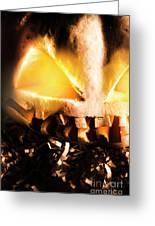 Spooky Jack-o-lantern In Darkness Greeting Card