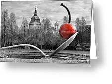 Spoon And Cherry Greeting Card