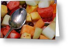 Spoon With Food Greeting Card