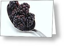 Spoonful Of Blackberries Greeting Card