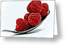 Spoonful Of Raspberries Greeting Card