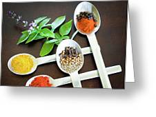 Spoons N Spices Greeting Card